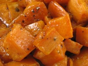 maple glazed sweet potatoes 1